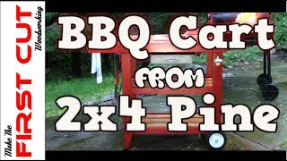 BBQ Cart From 2x4 Pine