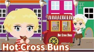 Hot Cross Buns | Children Nursery Rhyme | Kids Songs | Baby Puff Puff Cartoon Animation