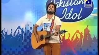 Pakistan Idol audition - Zamad Baig Yeh Jo Halka Halka Suroor Hai