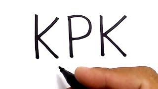 mengubah huruf KPK jadi gambar yg keren dan mengejutkan