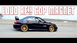 Ride Along VERY LOUD STRAIGHT PIPED 2004 Subaru WRX STI & Full Bolt ON E85 EVO X