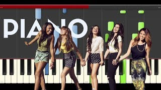 Fifth Harmony Write on me piano midi tutorial sheet partitura cover karaoke
