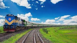 Silk City Express Train at Beautiful Ishurdi Bypass Rail Curve  Bangladesh Railway