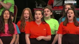 Parrs Wood High School choir perform at Manchester Together in Albert Square