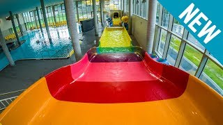 Blu Potsdam - Rainbow Slide Breitrutsche [NEW 2017] Colorful Wave Slide Onride POV
