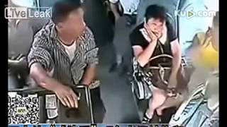 Woman_s bosom is touched from behind on bus