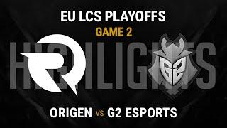 Origen vs G2 Esports Highlights Game 2 - Grand Final EU LCS Spring Playoffs 2016 - OG vs G2 G2