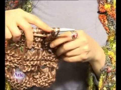 Chaleco tejido a dos agujas con mucho Brillo