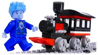 LEGO Analogue Fixies Builder Transport Train and Cartoon Character Nolik for Kids Video