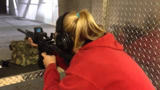 Bennett Shooting AR-15 with Aimshot Holographic Reflex Sight