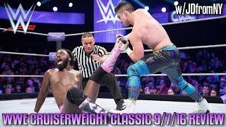 WWE Cruiserweight Classic 9/7/16 Review - TJ PERKINS VS RICH SWANN - WWE NXT 9/7/16 Review