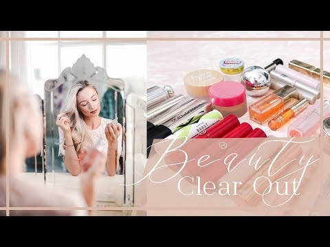 HUGE BEAUTY CLEAROUT DECLUTTERING TIPS AND MAKEUP ORGANISATION