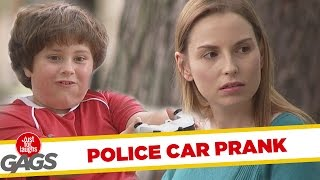 Kid Messing With Police Car