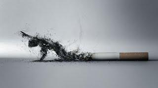 اضرار التدخين | تجربة تبين المواد المتراكمة من تدخين نصف سيجارة