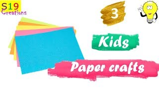 3 cool kids Paper crafts | Diy arts and crafts | Origami paper crafts | easy Diys