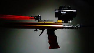 FlyWolf Hunting Slingshot Rifle 12 Beams Rubber band Gun - Powerful Slingshot Rifle Shooting Toy