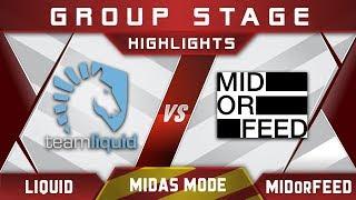 Liquid vs MidOrFeed Midas Mode 2017 Highlights Dota 2