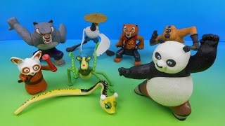 2008 KUNG FU PANDA SET OF 8 McDONALD'S HAPPY MEAL KID'S MOVIE TOY'S VIDEO REVIEW