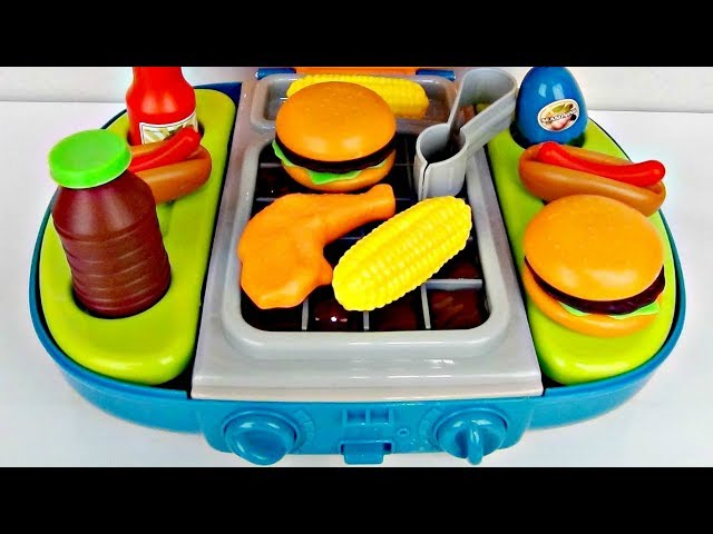 Barbecue BBQ Deluxe Full Light & Sound Playset! Grill with Superheroes