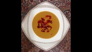غذاي تركيه ايي ( سوپ پرطرفدار عدس قرمز )  كيرميزي مرجومك  چورباسي