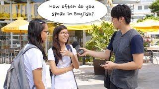 How often do you Filipinos speak in English?