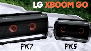 LG XBOOM Go PK7 Review vs PK5 - Portable Bluetooth Speakers