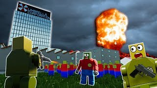 LEGO ZOMBIE APOCALYPSE NUKE SURVIVAL! - Brick Rigs Gameplay Challenge - Lego Zombie Survival