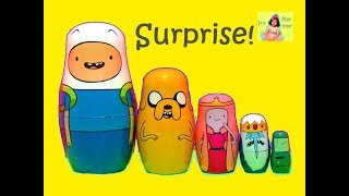 Adventure Time NESTING DOLLS Finn Jake the Dog Princess Bubble Gum Ice King and More |itsplaytime612