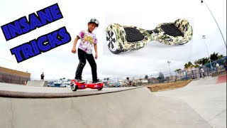 INSANE 7 YEAR OLD HOVERBOARD TRICKS AT THE SKATEPARK!