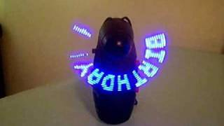 My LED message fan - 6 programmable messages play automatically