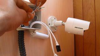 Как установить камеру видеонаблюдения / How to install ip camera