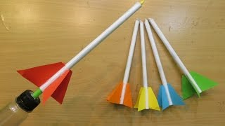 How to Make a simple Rocket Launcher - Easy paper Rocket launcher Tutorials