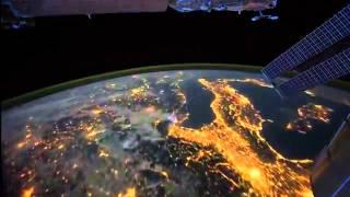 Vista notturna del Pianeta Terra - NASA Stazione Spaziale Internazionale HD