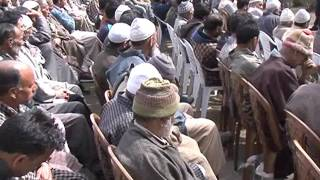 PDP President Ms. Mehbooba Mufti addressing workers from Khan Sahib