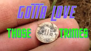 Old Silver 3 Cent TRIME Dug While Relic Hunting at the Colonial Field - XP Deus