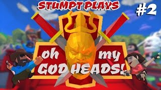 Oh My Godheads - #2 - Hot Potato Heads! (4 Player Gameplay)