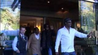Whitney Houston leaving hotel in Germany after wetten dass show