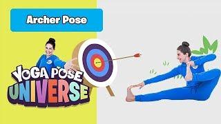 Archer Pose   The Cosmic Kids Yoga Pose Universe!
