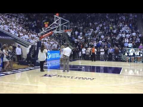 BYU football coaches introduced at the Marriott Center