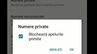 Blocare apeluri de la numere private