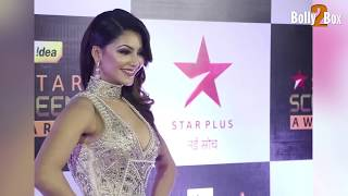 Urvashi Rautela show her balloons on Star Screen Awards 2016