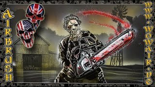 """Airbrush by Wow No.891 """" Classic Horror - Leatherface  """" english commentary"""