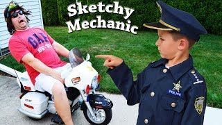 Sketchy Mechanic works on Officer Ryan