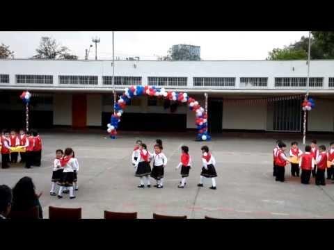 Baile Nortino en Escuela de parvulos Paises Bajos