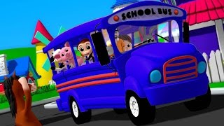 Luke & Lily - Wheels On The Bus   Nursery Rhymes Songs   Video For Kids   Bus Song