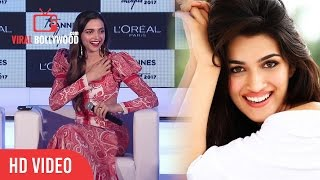 I Have A Girl Crush On Deepika Padukone   Deepika Padukone Reaction On Kriti Sanon