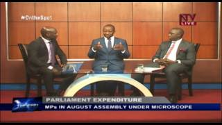 ON THE SPOT: Ssemujju Nganda and Muhammad Nsereko discussing parliamentary expenditure