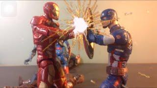 [captain America Civil War stop motion] team captain America vs team iron man standoff stop motion