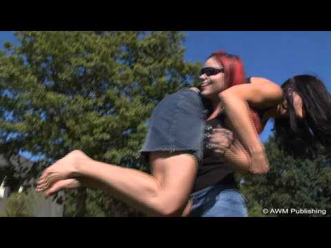 Talina Cote Fireman Carry with Amy 2