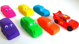 Play Doh Cars Lightning Mcqueen Learn Colors for Kids Finger Family Song Nursery Rhymes